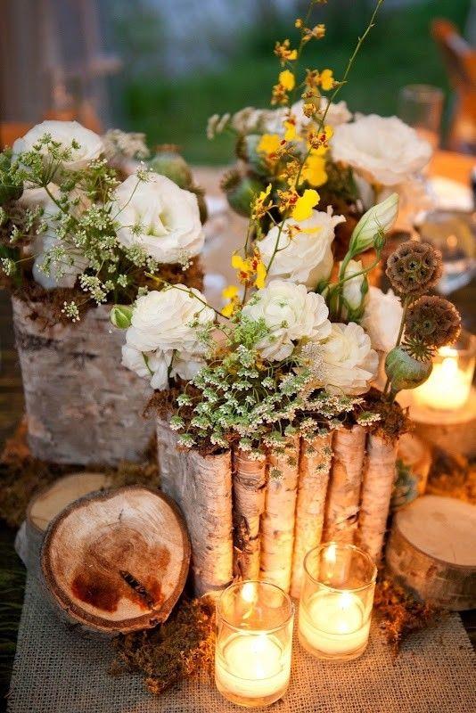 Decoración romántica con velas para tu boda