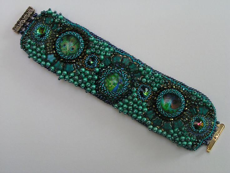 bead embroidery bracelet