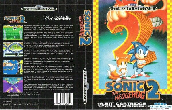 Sonic 2. Unfortunately the artwork was done in the north American style rather than European or Japanese.