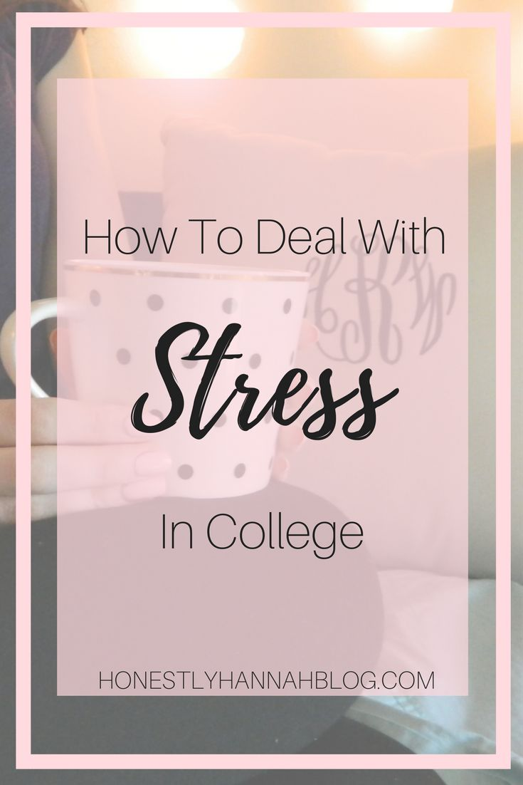 How to relieve and deal with the stress that comes along with being a college student.