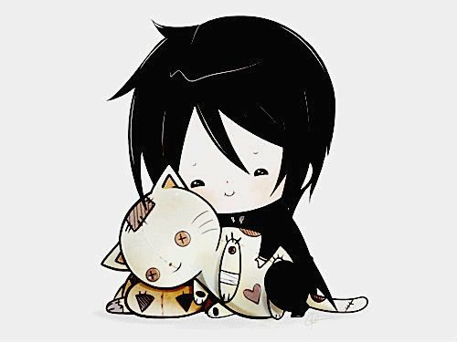 Sebastian really loves cats ^-^  Kuroshitsuji Manga Reading from Chapter 1 to 97 http://www.mangaeden.com/en-manga/kuroshitsuji/   Watch Black Butler Season 1 http://dubbedanime.net/anime/black-butler-english-dubbed              Season 2      http://dubbedanime.net/anime/black-butler-ii-english-dubbed      Season 3  http://animewaffles.tv/Details-Kuroshitsuji-Book-of-Circus-1327    OVA's  http://www.funniermoments.com/tag.php?t=black-butler