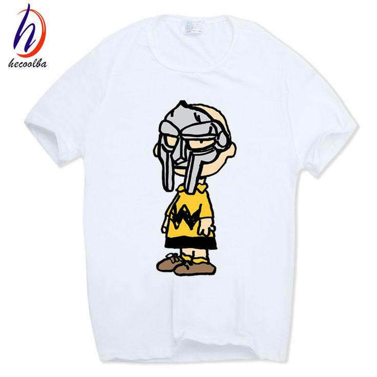 Hecoolba 2017 Print MF DOOM Fashion T-shirt O-Neck Short sleeves Summer Casual Madlib Madvillain Hip Hop Rap T Shirt HCP751 #Affiliate