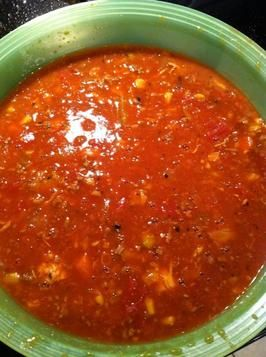 Smokey Bones Brunswick Stew - truly amazing, but I did not add the 6 cups water - like a really thick soup.  Also, cooked it in the crock pot all day.