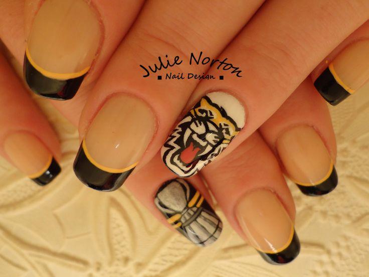 Hamilton Tiger Cat 101 Grey Cup Nails