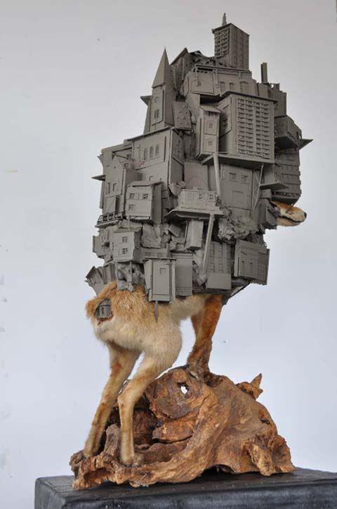 Urban Taxidermy [Sculpture] by Pim Palsgraaf.