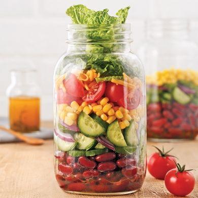 Salade mexicaine en pot - Recettes - Cuisine et nutrition - Pratico Pratique