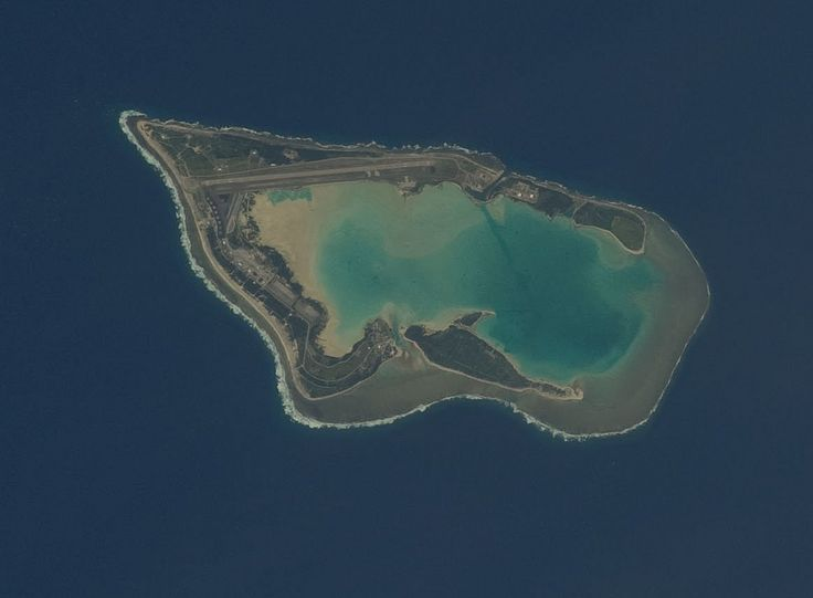 https://flic.kr/p/dkegkp | Wake Island (NASA, International Space Station, 09/27/12) | Wake Island is featured in this image photographed by an Expedition 33 crew member on the International Space Station. The atoll of Wake Island is located in the central Pacific Ocean approximately 4,000 kilometers to the west-southwest of Hawaii and 2,400 kilometers to the northwest of Guam. In addition to Wake Island, the atoll includes the smaller Peale and Wilkes Island for a total land surface area of…