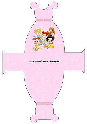 Princesas beb s disney cajas para imprimir gratis - Cajas decoradas para bebes ...