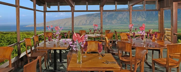 Kula Lodge - Restaurant...simply the best eggs Benedict ever!!  On the side of Haleakala.