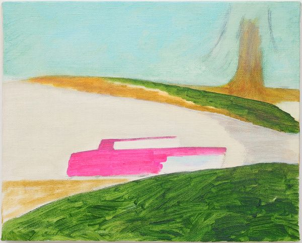 Hiroshi Sugito - the pink level, 2009, oil on linen, 8.675 x 10.75 inches