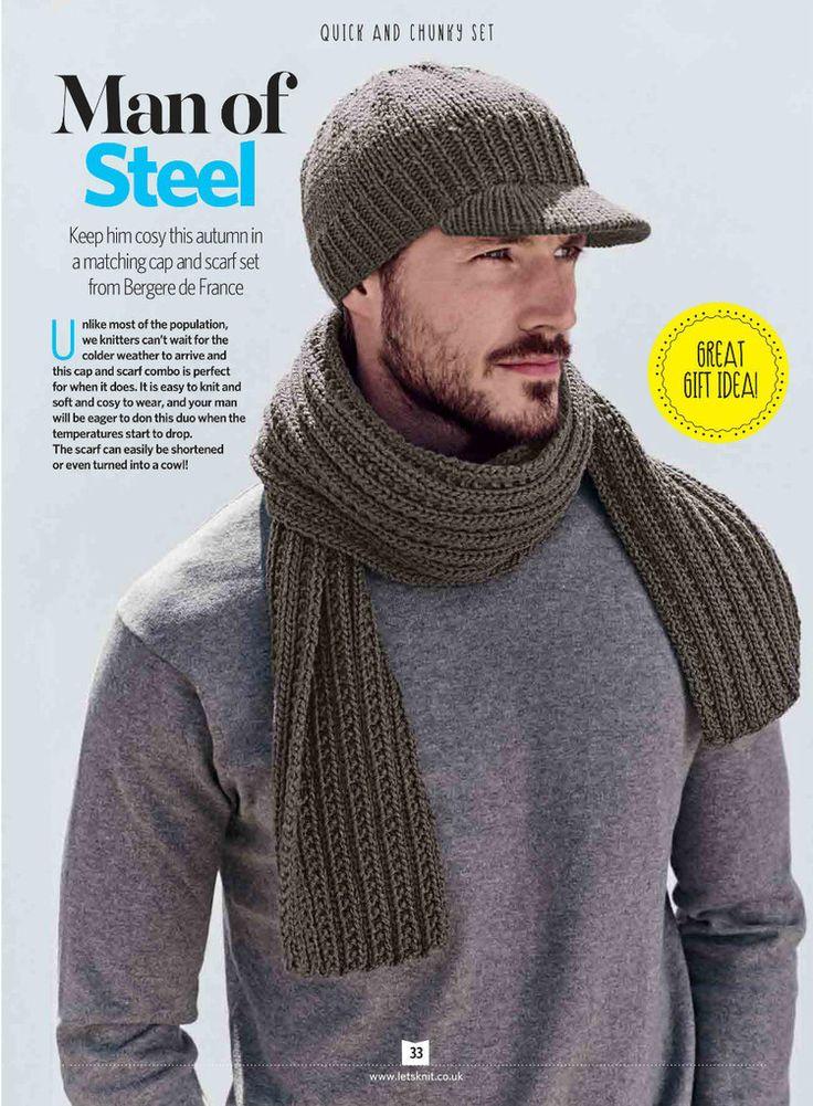Lets Knit №109 2016 - 轻描淡写 - 轻描淡写 | Crochet mens scarf ...