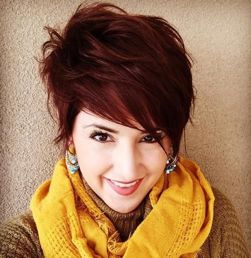 Layered Long Mahogany Pixie