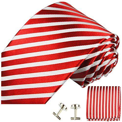 Red White Striped Necktie Set 3pcs. 100% Silk Tie for Men... https://www.amazon.co.uk/dp/B005O8ZJPE/ref=cm_sw_r_pi_dp_x_1i95xbFK8RP5W