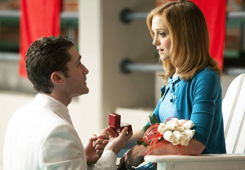 Will Schuester and Emma, (Matthew Morrison and Jayma Mays) Glee