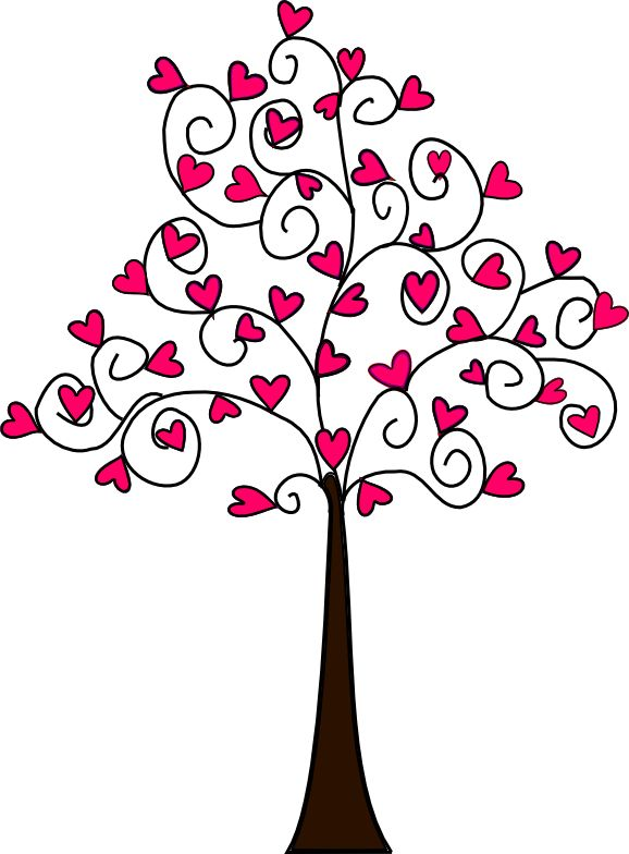 Beyond the Fringe: Free Heart Tree Digi's