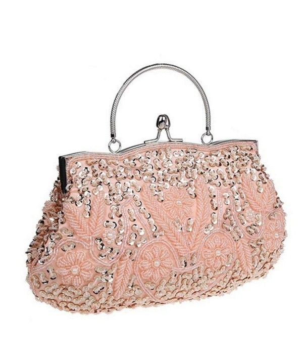 905022ad09f Women's Bags, Clutches & Evening Bags, Women's Evening Clutch Two-sided  Lily Beaded Sequin Designer Clutch Handbag - Champagne Gold - CZ12DRUQX2Z  #Women ...