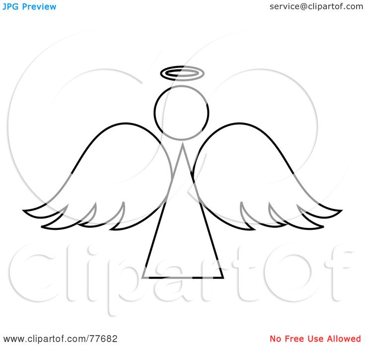 angel outline image - Google Search