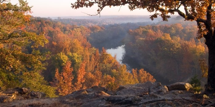 Sunrise over the Little Red River near Searcy, Arkansas, photo by Craig Rainbolt