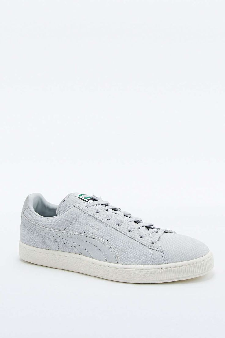 Puma Suede Classic Textured Grey Trainers