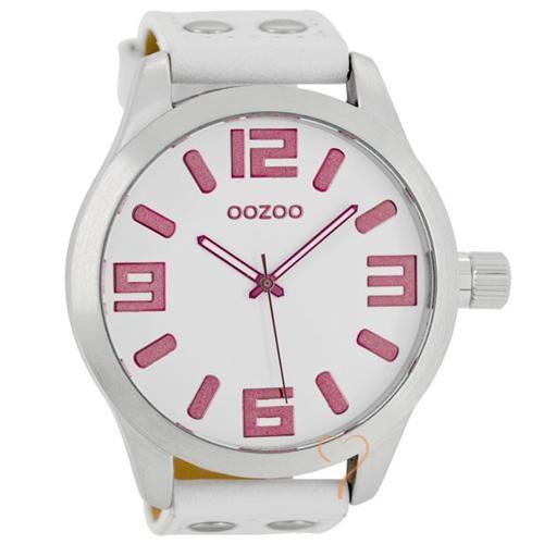 Ρολόι Oozoo Timepieces 48mm White-Pink Dial