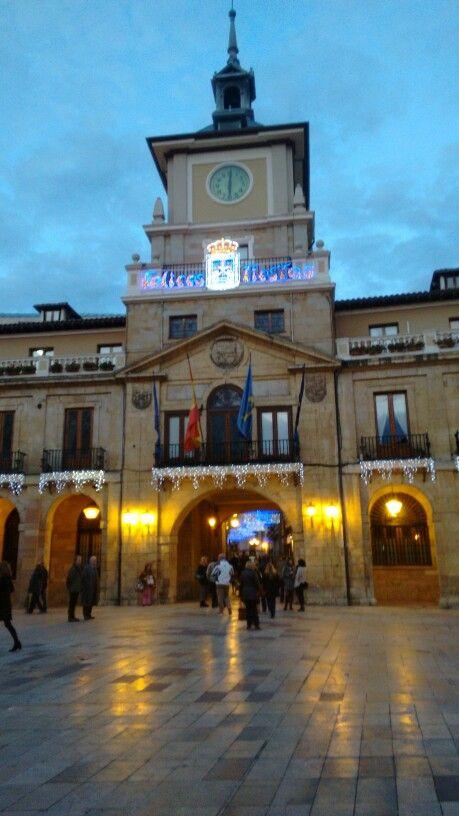 Ayuntamiento de Oviedo en navidad