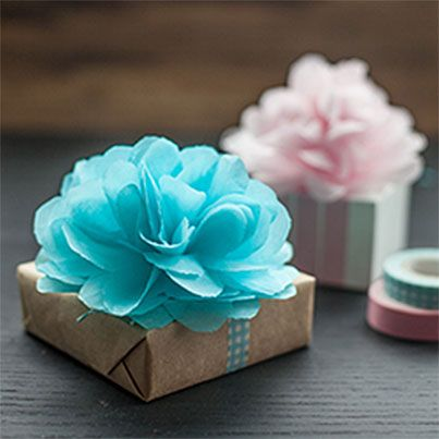 DIY Tissue Paper Poms & Flowers