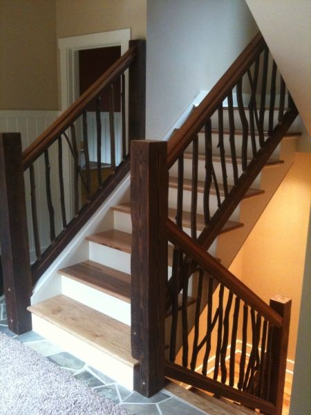 Best Reclaimed Wood Railing Wood Railing Custom Furniture Home 400 x 300