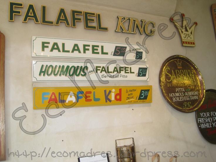 Falafel King, nada caro para estar en Notting Hill.