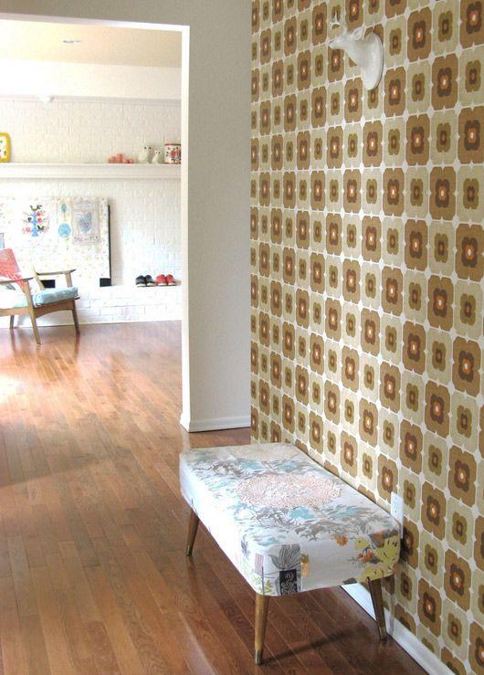 Die besten 25+ Yellow kitchen wallpaper Ideen auf Pinterest - retro tapete wohnzimmer