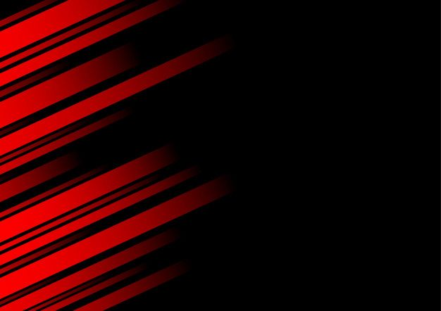 Abstract Red Line And Black Background For Business Card Dengan