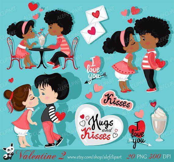 Valentine Kids Clipart 2 My Cute Valentine Digital Clip Etsy Kids Clipart Valentines For Kids Clip Art
