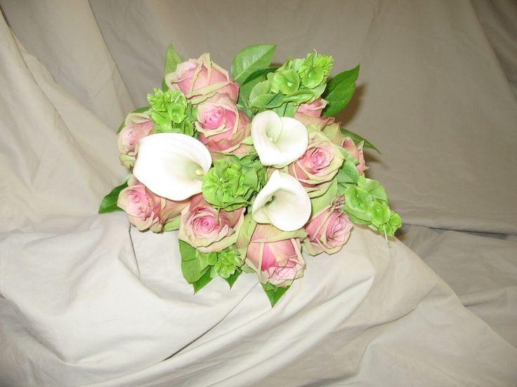 Bells Of Ireland With Calla Lily Wedding Bouquet Wedding