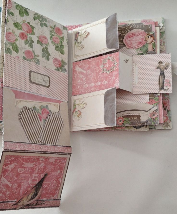 Graphic45 Botanical Tea scrapbooking Envelope Mini Album with Flaps By Anne Rostad
