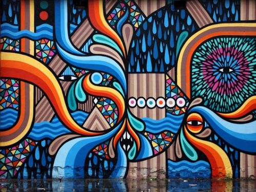 rollership:asylum-art said:beastman's Murals Play with Color and...