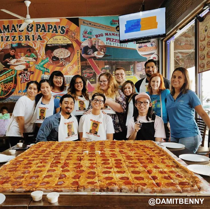 2 Hours, 8 friends, 1 Giant Sicilian pizza and a chance to win $1000! #BMPP Pizza Challenge Rules: Our contestants have 2 hours to finish our giant Sicilian, max 8 people. If they win, the pizza is on us plus 1000 cash. If they lose, they just pay for the pizza.
