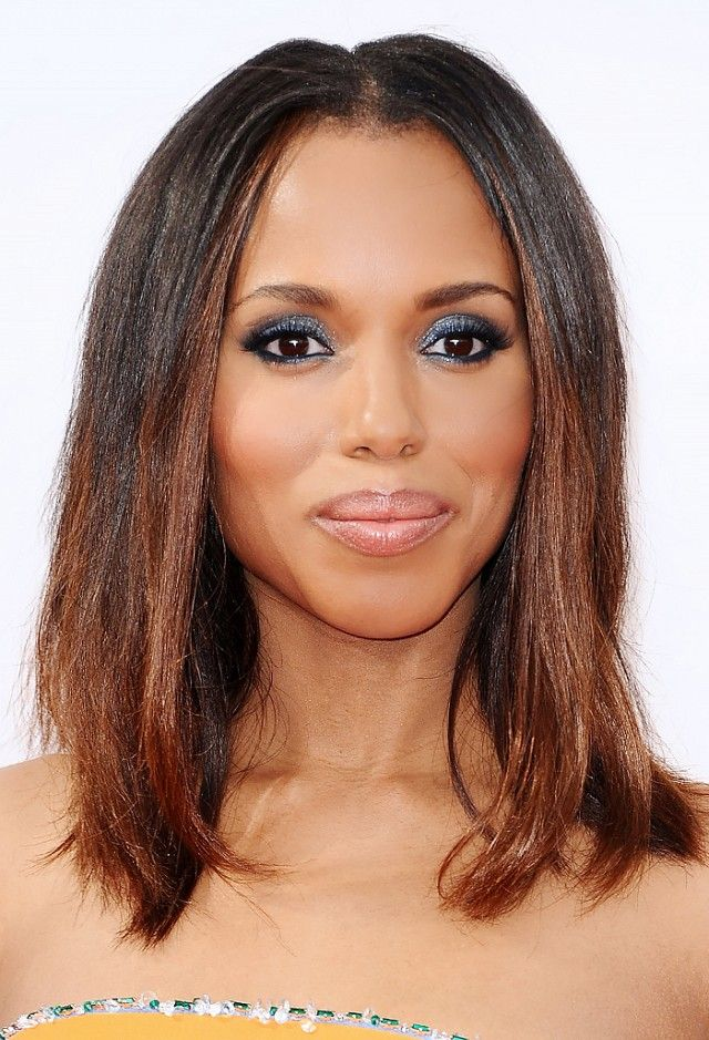 """The trend: Metallic eye shadow His take: """"Kerry's strongest facial feature (along with her lips) is those big hazelnut eyes that draw you in and make you forget what she was..."""