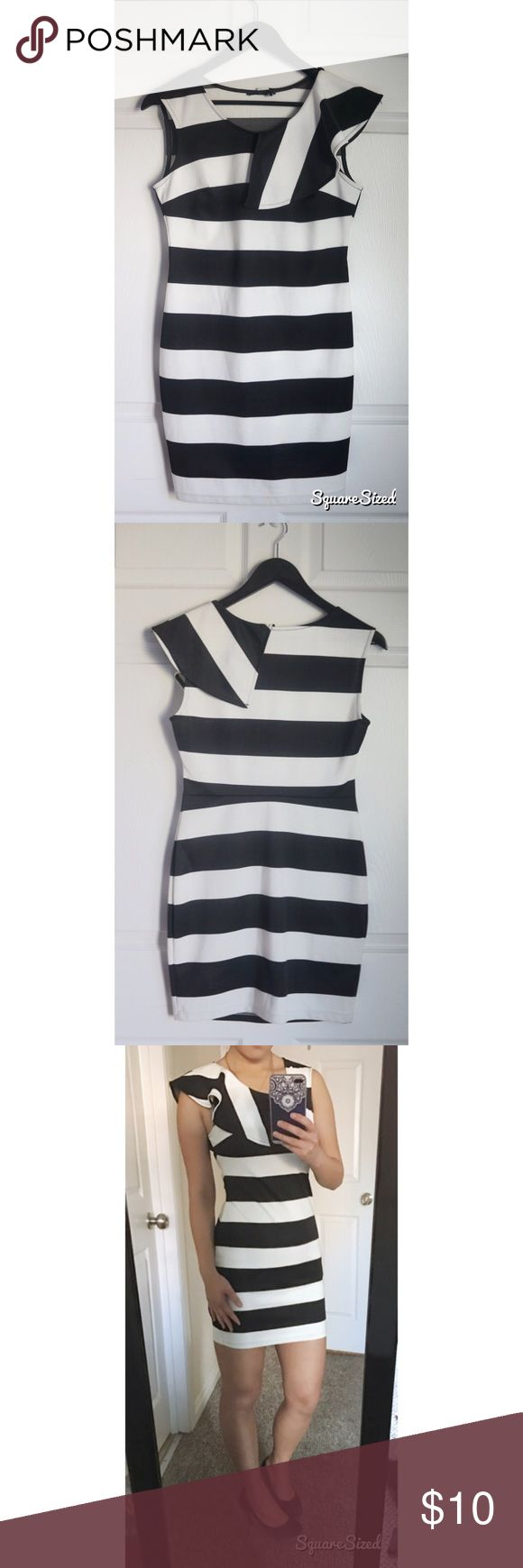 Striped Bodycon Dress Waist: 27-28 inches No stain no damage. In Great condition. 📦Fast shipper: same day or next morning depending on when purchased  📢Bundled discounts. Dresses
