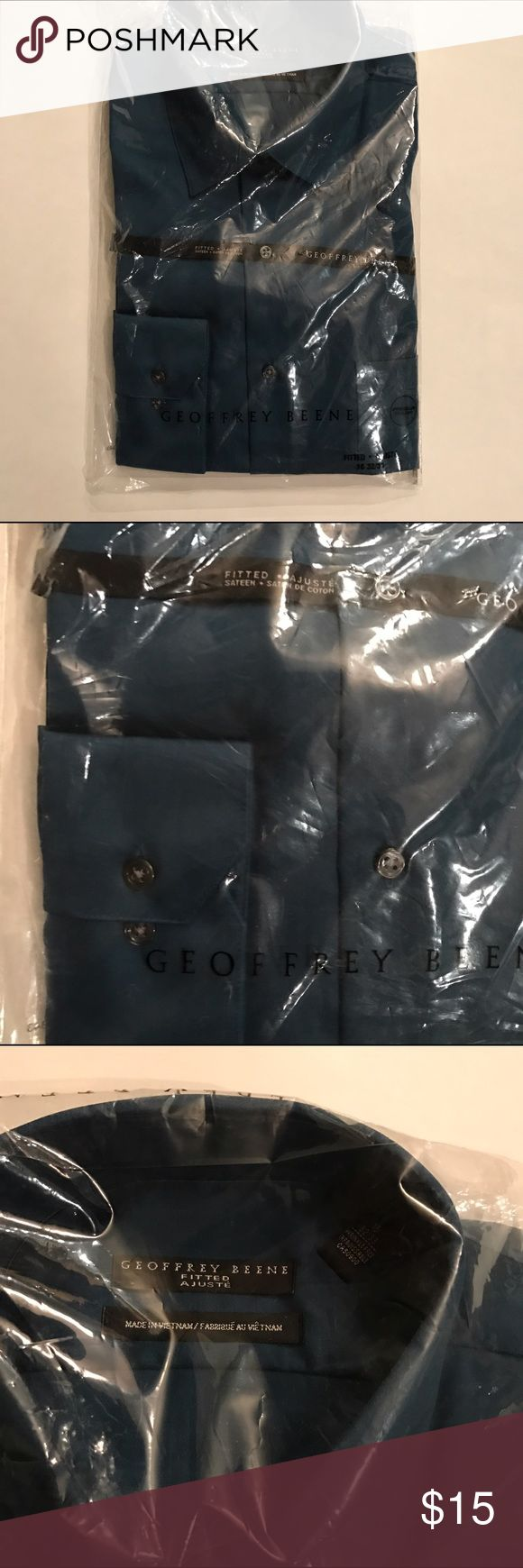 NWT BUTTON DOWN SHIRT BRAND NEW Geoffrey Beene shirt Geoffrey Beene Shirts Dress Shirts
