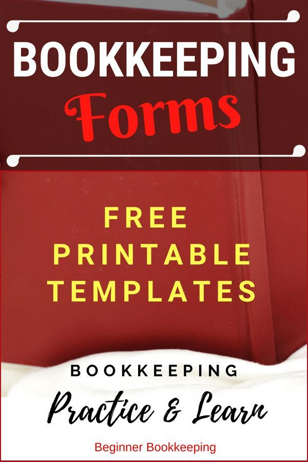 Free Bookkeeping Forms and Accounting Templates Money matters
