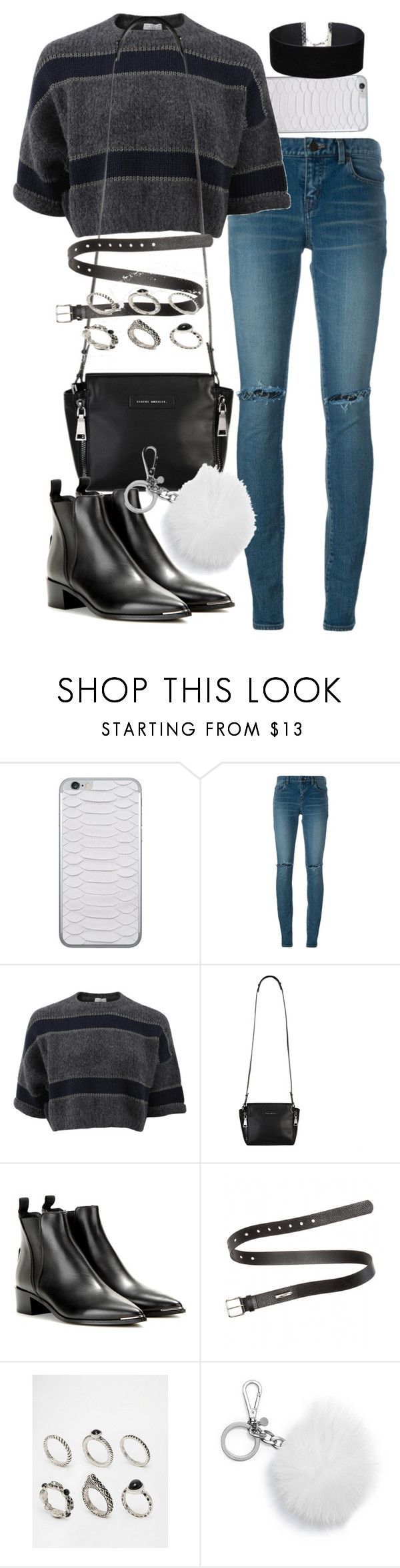 """Untitled #2170"" by mariie00h ❤ liked on Polyvore featuring Jamie Clawson, Yves Saint Laurent, Brunello Cucinelli, Acne Studios, ASOS, MICHAEL Michael Kors and Miss Selfridge"