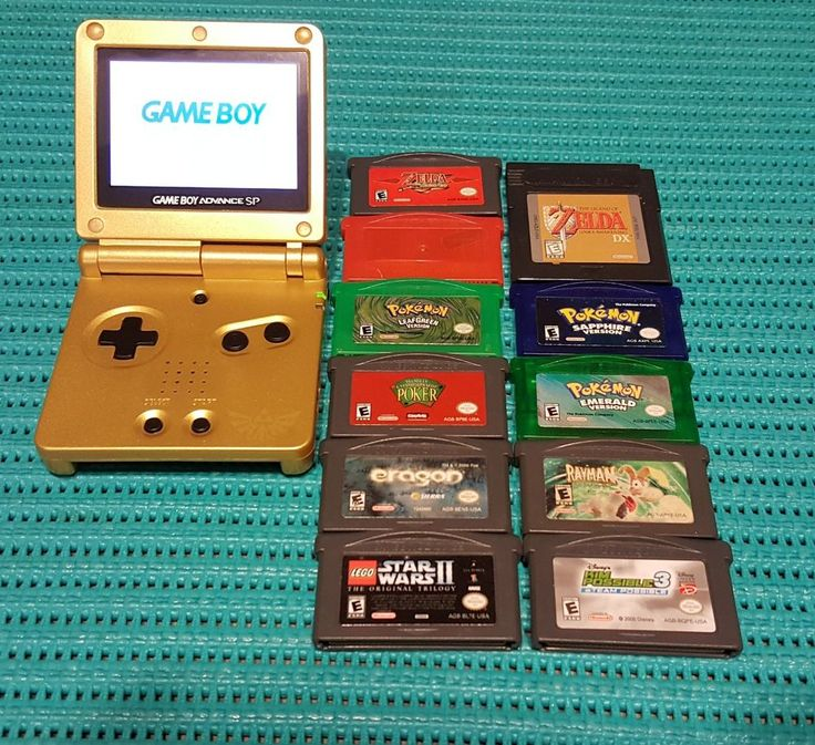 Game boy advance SP 101 Zelda Reshell with 11 games Pokemon zelda and more #Nintendo