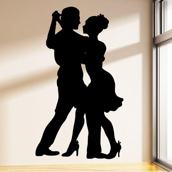 Wandtattoo  Tänzer Tanzpaar 55 x 95 cm von wandtattoo-loft via dawanda.com