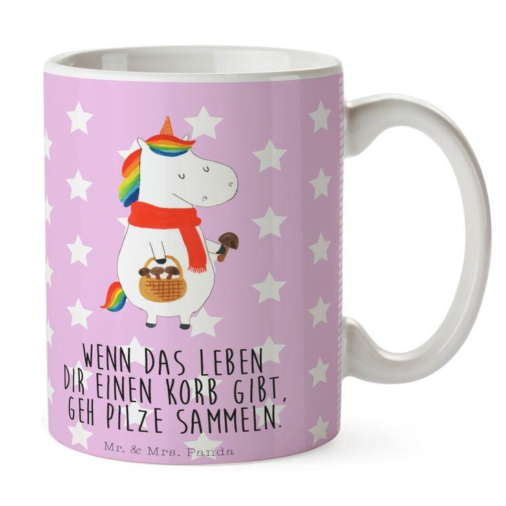 Tasse Einhorn Pilz aus Keramik  Weiß - Das Original von Mr. & Mrs. Panda.  Eine wunderschöne spülmaschinenfeste Keramiktasse (bis zu 2000 Waschgänge!!!) aus dem Hause Mr. & Mrs. Panda, liebevoll verziert mit handentworfenen Sprüchen, Motiven und Zeichnungen. Unsere Tassen sind immer ein besonders liebevolles und einzigartiges Geschenk. Jede Tasse wird von Mrs. Panda entworfen und in liebevoller Arbeit in unserer Manufaktur in Norddeutschland gefertigt.     Über unser Motiv Einhorn Pilz  Ein…