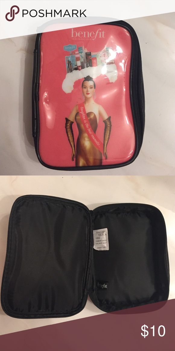 ✨SALE✨Benefit Makeup bag 4 x 7.  NEW makeup bag. Never used. Bags Cosmetic Bags & Cases