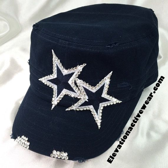 Dallas Cowboys Gift For Women Bling Cap Dallas by Elivata
