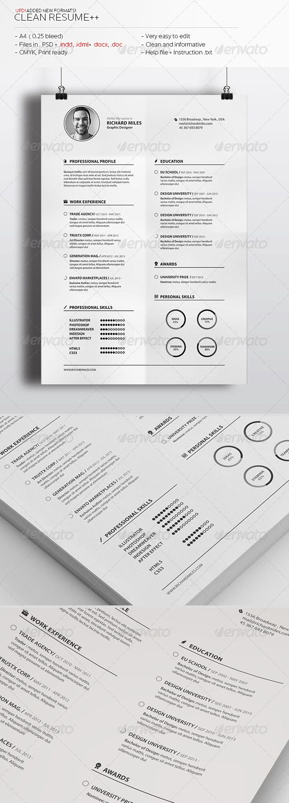 22 Best Curriculum Vitae Design Images On Pinterest Resume