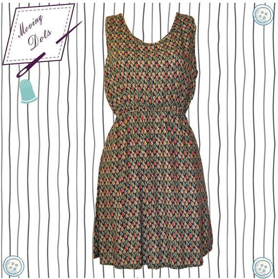 Mini cotton Summerdress Open back 2016 One Size by MovingDots