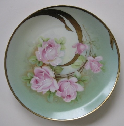 porcelain hand-painted plate