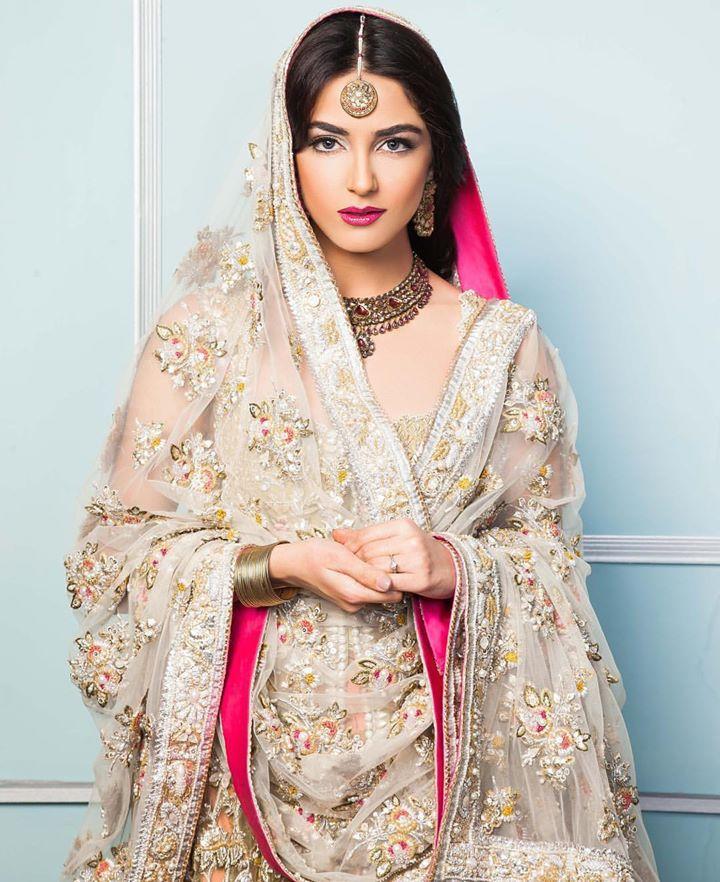 Pakistani bridal, pink and whitecreamgray, model and TV Actress Pakistani,
