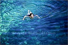 See-through (Paul Scicluna) Tags: sea holiday colour reflection beach water rock swimming swim island mediterranean diving malta pebbles valley shade gozo ghasri vision:outdoor=0982 vision:sky=0729
